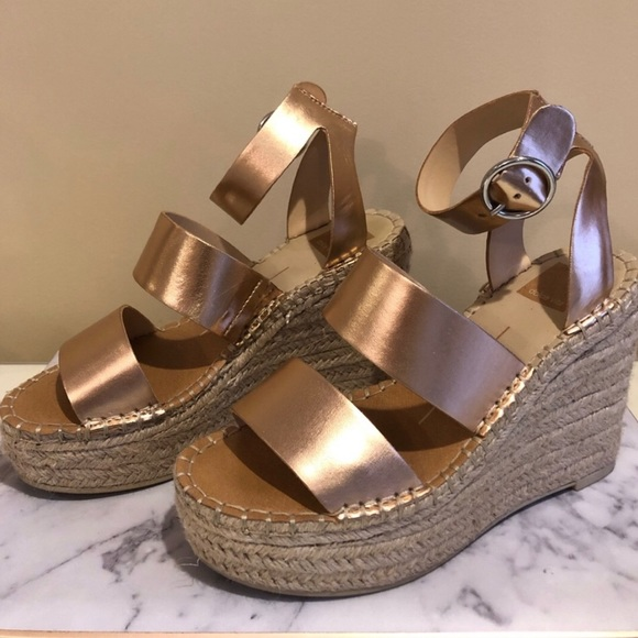 ed729207174c Dolce Vita Shoes - Dolce Vita Rose Gold Shaun Platform Wedge Sandal